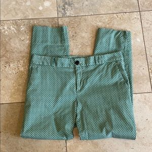 Blue and green BR ankle pant